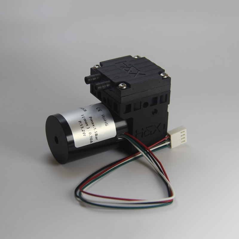 HX05-DCB Brushless Single-head 12 volt Micro Vacuum Pump Small Electrical Air Pump Mini Diaphragm Pump Air/gas Sampling Vacuum/pressure Applications