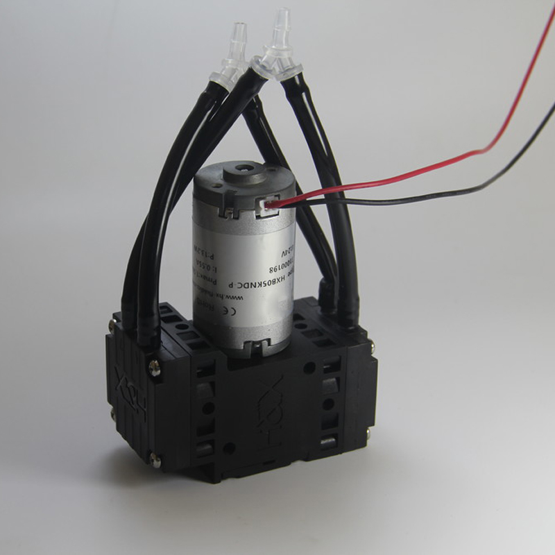 HXB05-DC -77kPa EPDM Diaphragm Micro Vacuum Pump Mini Air Pump 12 volt Miniature Air Sampling Pump 24V 8L/min
