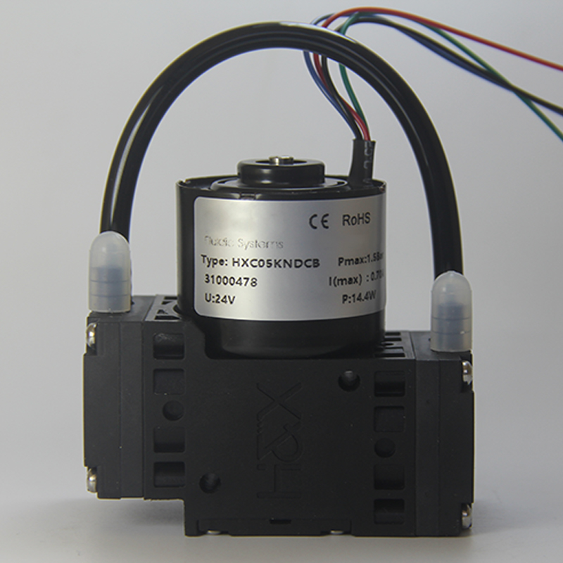 HXB05-DCB(S) 12V/24V -77kPa Brushless Speed Adjustable PWM Miniature Diaphragm Vacuum Pump Durable Air Pump Air/gas Analysis OEM