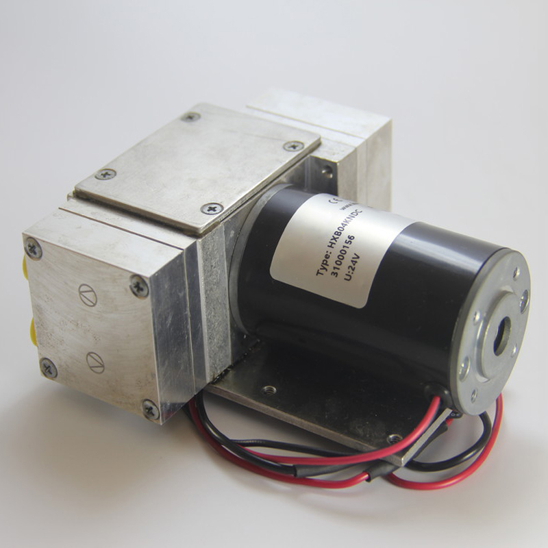 HXB04 12V/24V -99kPa 4L/min Miniature Diaphragm Vacuum Pump Small Air Pump 12 Volt Aluminum Alloy Head Custom-made
