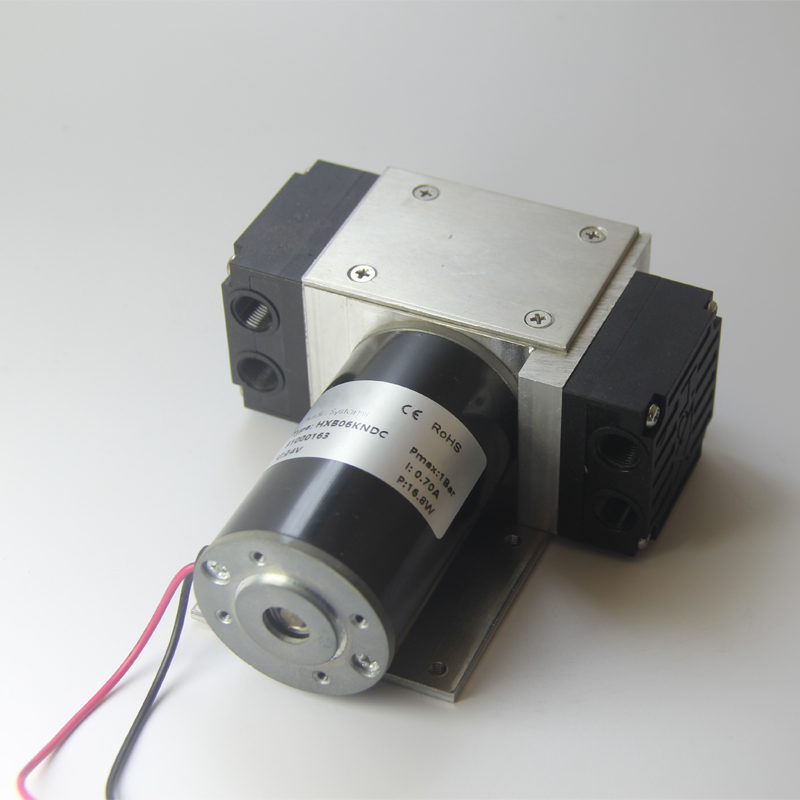 HXB06-DC 12v/24v 6L/min EPDM/PTFE Diaphragm Quiet Long Life Miniature Diaphragm Vacuum Pump Mini Air Pump OEM Pump Medical Equipment Parts