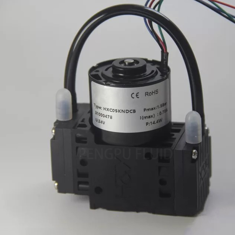 HXC05-DCB(S) Quiet Brushless Motor EPDM -95kPa Micro Vacuum Pump Corrosion Resistant Small Electrical Air Pump Diaphragm Pump